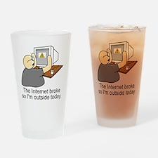 light internet shirt Drinking Glass