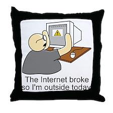 light internet shirt Throw Pillow