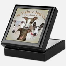 Greyhound Cant Have Just One mousepad Keepsake Box