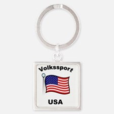 Volkssport USA Square Keychain