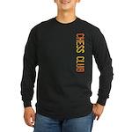 Chess Stamp Long Sleeve Dark T-Shirt