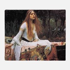 Lady of Shalott by Waterhouse Throw Blanket