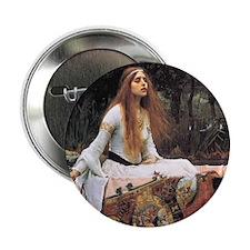 "Lady of Shalott by Waterhouse 2.25"" Button"