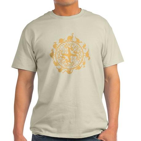 dino circle4 Light T-Shirt