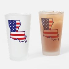 louisiana_state_flag_map1 Drinking Glass