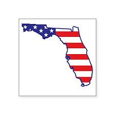 "florida_state_flag_map1 Square Sticker 3"" x 3"""