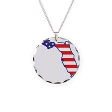 florida_state_flag_map1 Necklace