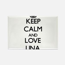 Keep Calm and Love Lina Magnets