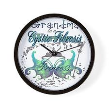 Grandma to a Cystic Fibrosis Warrior Pr Wall Clock