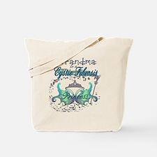 Grandma to a Cystic Fibrosis Warrior Prin Tote Bag