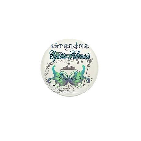 Grandma to a Cystic Fibrosis Warrior P Mini Button