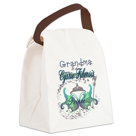 Grandma to a Cystic Fibrosis Warr Canvas Lunch Bag