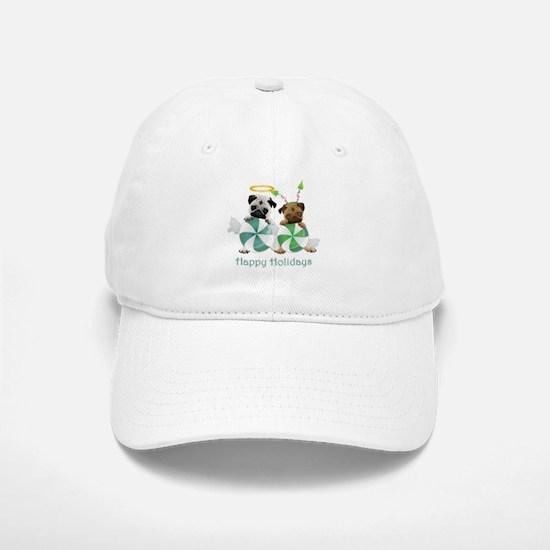 Peppermint Candy Pugs Baseball Baseball Cap