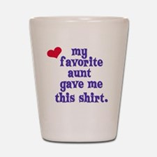favorite-aunt Shot Glass