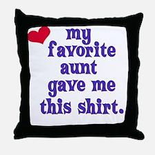 favorite-aunt Throw Pillow