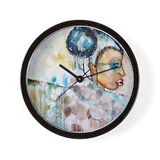 tiffany baca blue Wall Clock