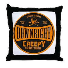 DRC_Seal_Brand_Orange Throw Pillow