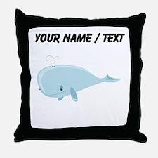 Custom Blue Whale Throw Pillow