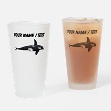 Custom Orca Whale Drinking Glass