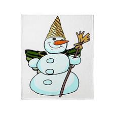 snowmannola2tra Throw Blanket
