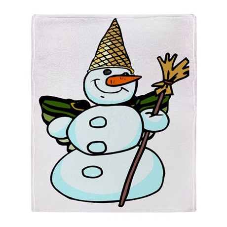 snowmannola2tra Throw Blanket