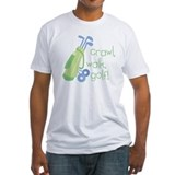 Crawl walk golf infant colors Fitted Light T-Shirts