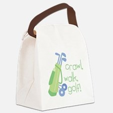 Crawl, Walk, Golf Canvas Lunch Bag