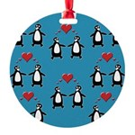 Penguins In Love Ornament