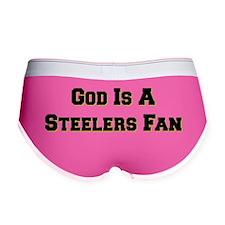 God Is A Steelers Fan BW Women's Boy Brief