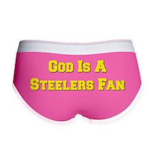 God Is A Steelers Fan Women's Boy Brief