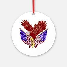 American Eagle Round Ornament