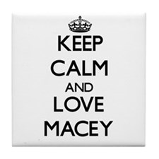 Keep Calm and Love Macey Tile Coaster