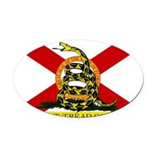 Florida-Gadsden Oval Car Magnet
