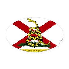 Alabama- Gadsden Oval Car Magnet