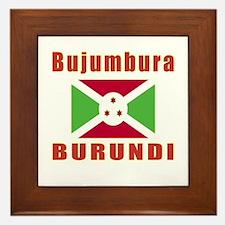 Bujumbura Burundi Designs Framed Tile