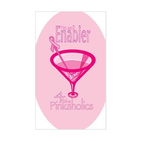 PinkaholicOval_sticker Sticker (Rectangle)
