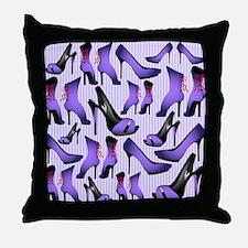 Purple High Heels Throw Pillow