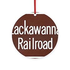 Lackawanna Railroad Sign Round Ornament