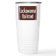 Lackawanna Railroad Sign Travel Mug