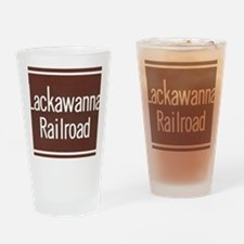 Lackawanna Railroad Sign Drinking Glass