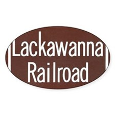 Lackawanna Railroad Sign Decal