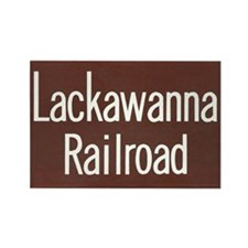 Lackawanna Railroad Sign Rectangle Magnet