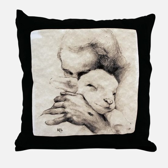 jesus7 Throw Pillow