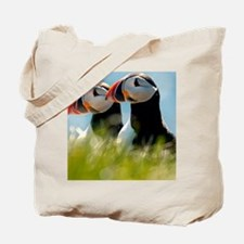 Puffin Pair 14x14 600 dpi Tote Bag