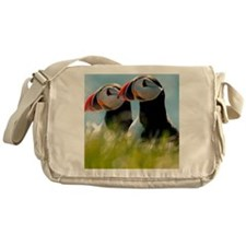 Puffin Pair 14x14 600 dpi Messenger Bag