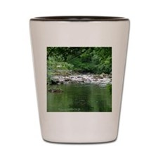 Mountain stream Shot Glass