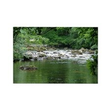 Mountain stream Rectangle Magnet