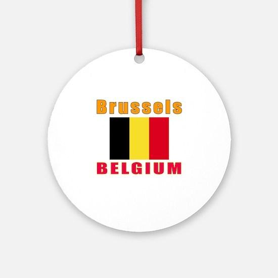 Brussels Belgium Designs Ornament (Round)