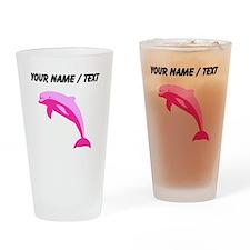 Custom Pink Dolphin Drinking Glass