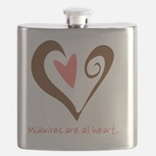 2-MidwivesHeartBrown Flask